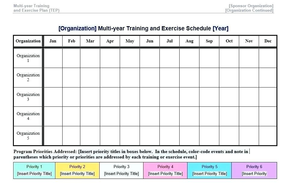 Exercise Planner Printable Template Workout Plan Template