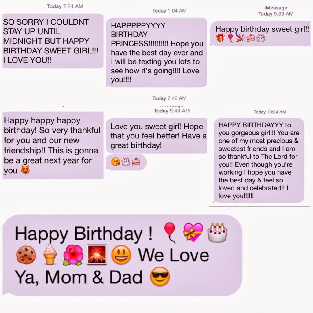 For birthday text happy pictures messages