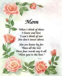 Heart Touching Mothers Day Poem To My Mother Mrs Willie Mae