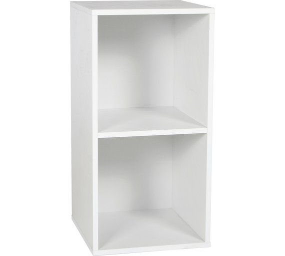 buy home phoenix 2 cube storage unit white at argoscouk