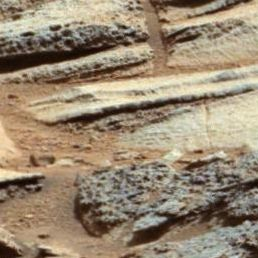 Wide View of 'Shaler' Outcrop, Sol 120 - Mars Science Laboratory