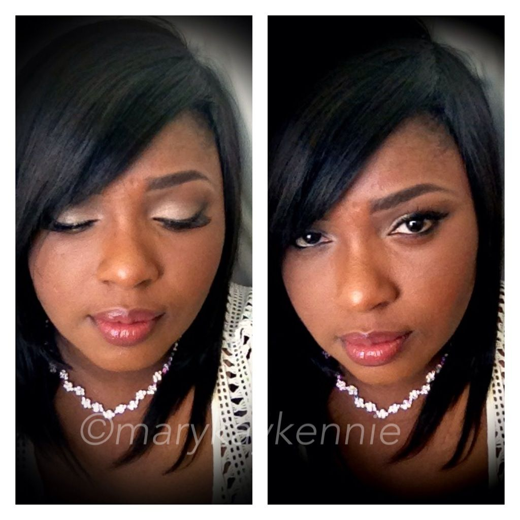 A bridal inspired look i created using marykay cosmetic toffee lipcolor silkycaramel eyeshadow, cinnabar to blend and coal in the crease. Love it