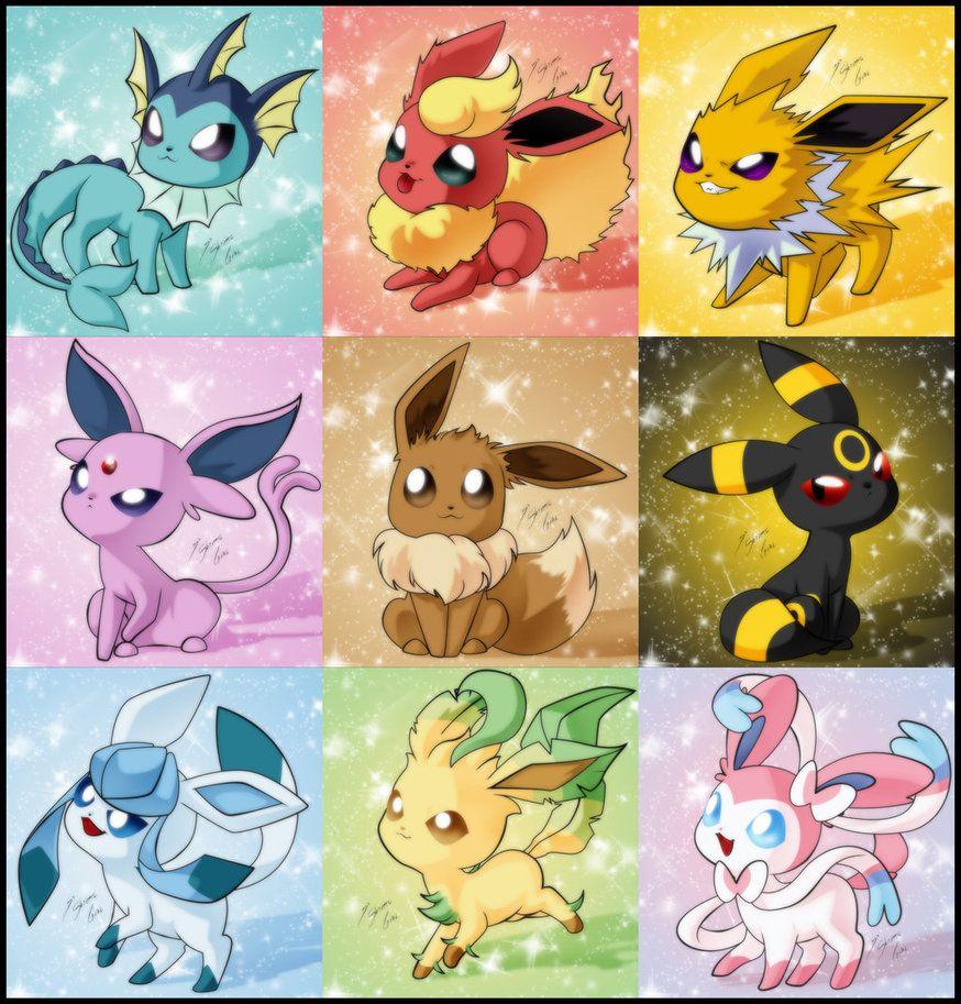 Eevee Evoluciones By Shinta Girl On Deviantart Pokemon Eevee Pokemon Eeveelutions Cool Pokemon Wallpapers