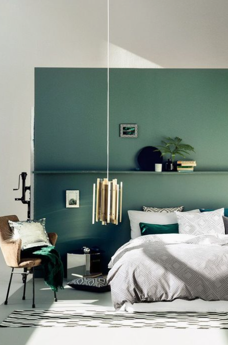 Going Green Feature Wall Id 233 E Chambre Chambre Design