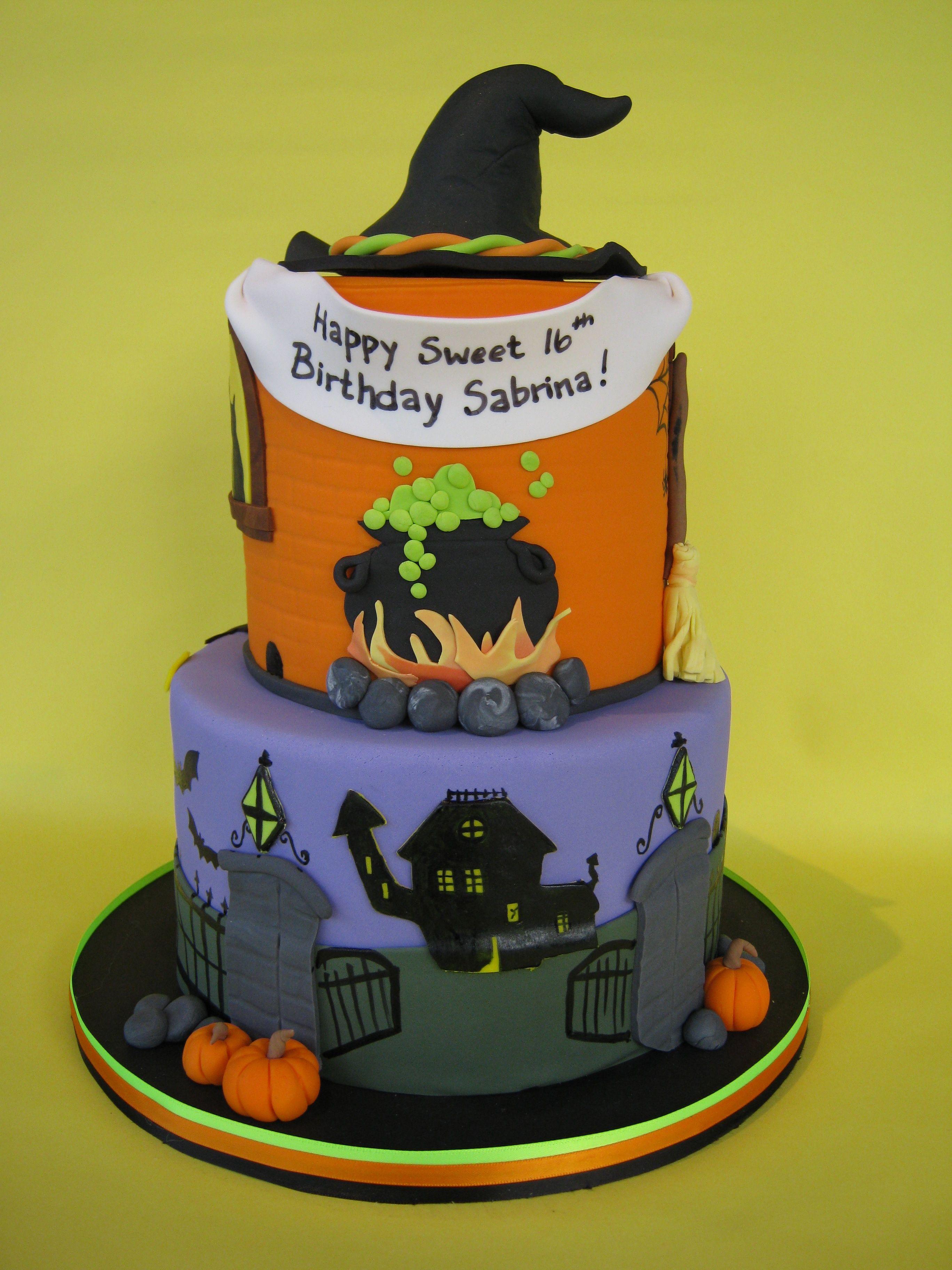 Witches birthday cake halloween cake scary cake