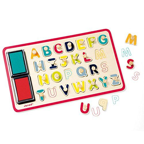 26pcs Plastic ABC A-Z Alphabet Letters Stamps Set Kids Educational Toys Gift