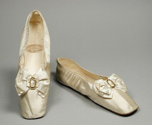 Slippers 1840's The Los Angeles County Museum of Art