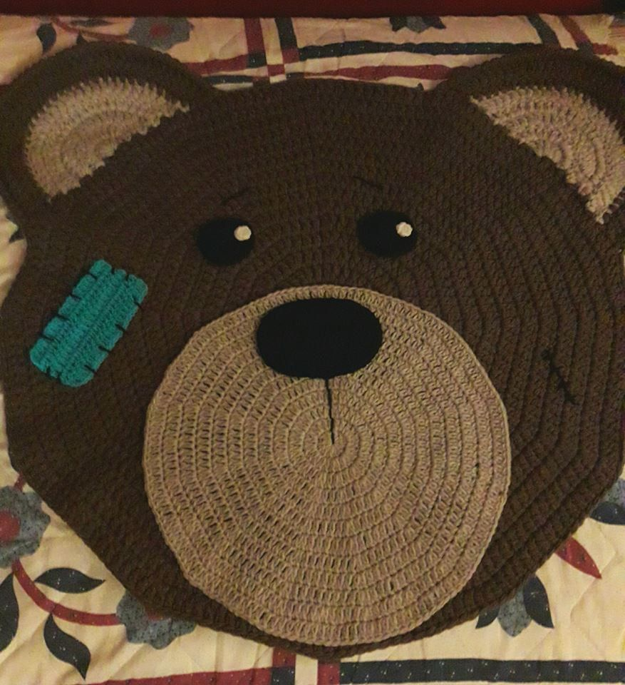 Bear photo prop rug wall hanging for babies decoration