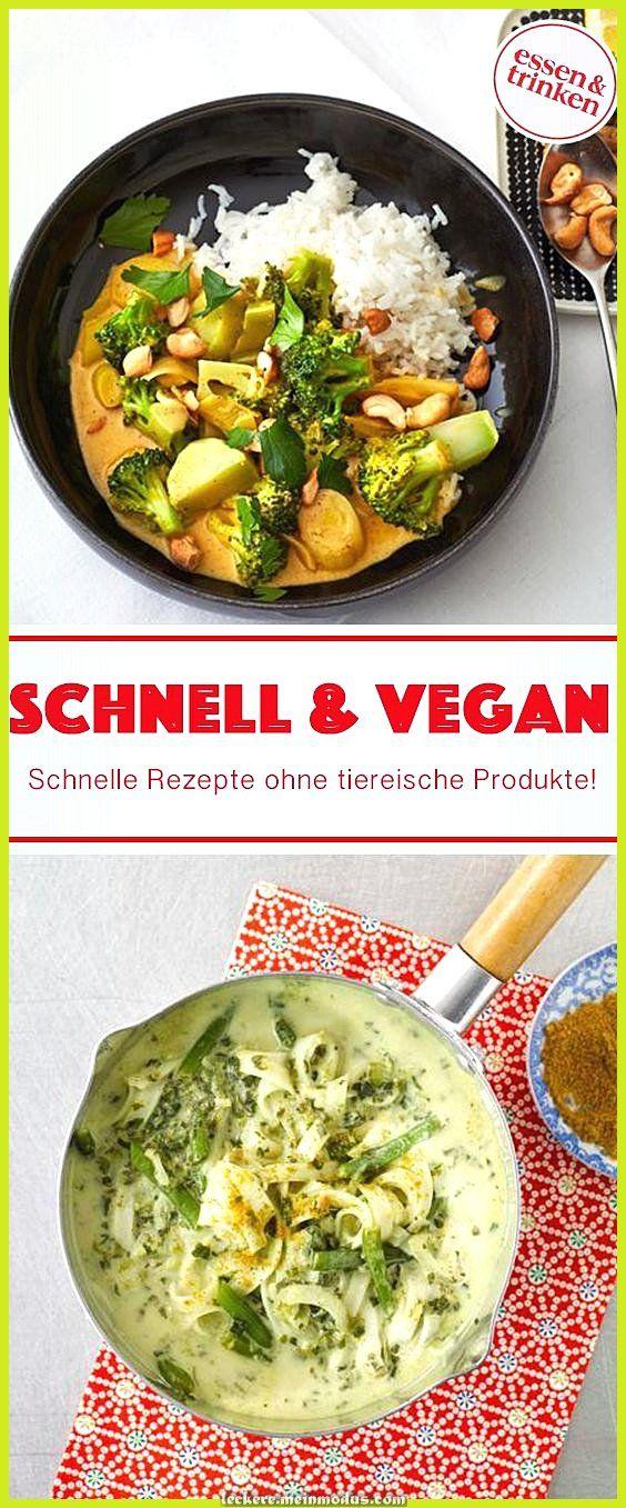 Schnelle und vegane Rezepte