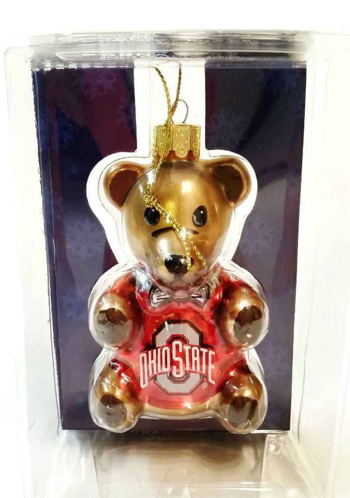 Bear Christmas Ornament Ohio State Buckeyes O.S.U. OSU #topperscot  #OhioStateUniversity http:// - Bear Christmas Ornament Ohio State Buckeyes O.S.U. OSU #topperscot