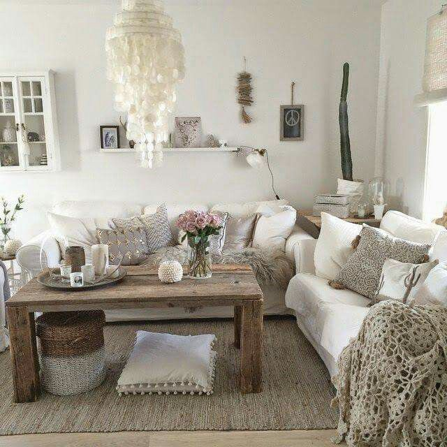 Wohnzimmer weiss Home Pinterest Living rooms, Room and Front - wohnzimmer weis shabby