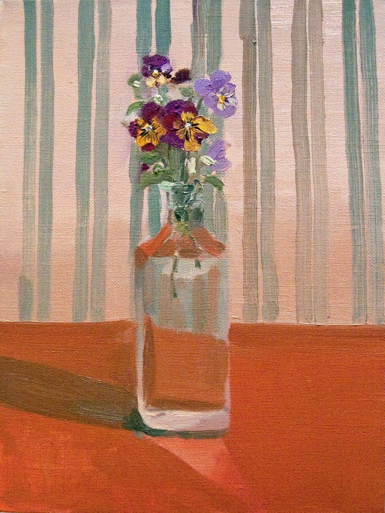 Susan Homer - Pansies in a Bottle