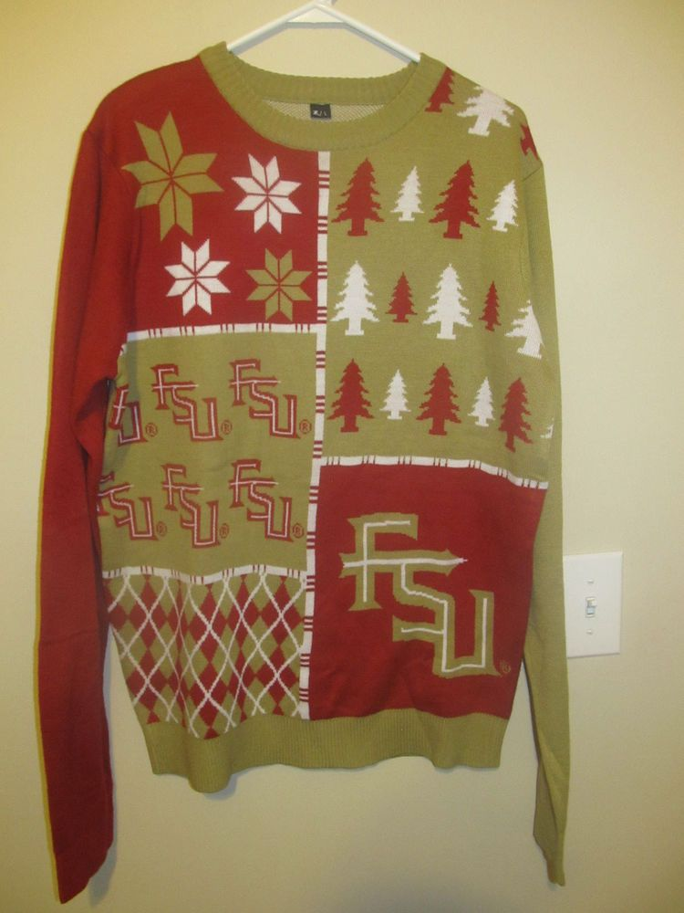 a1386b96 Florida State Seminoles Ugly Christmas Sweater - Adult large  #ForeverCollectibles #FloridaStateSeminoles