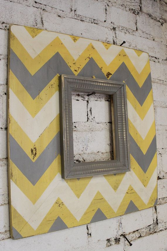 Mod Chevron Distressed Wood Picture Frame 5x7 Opening