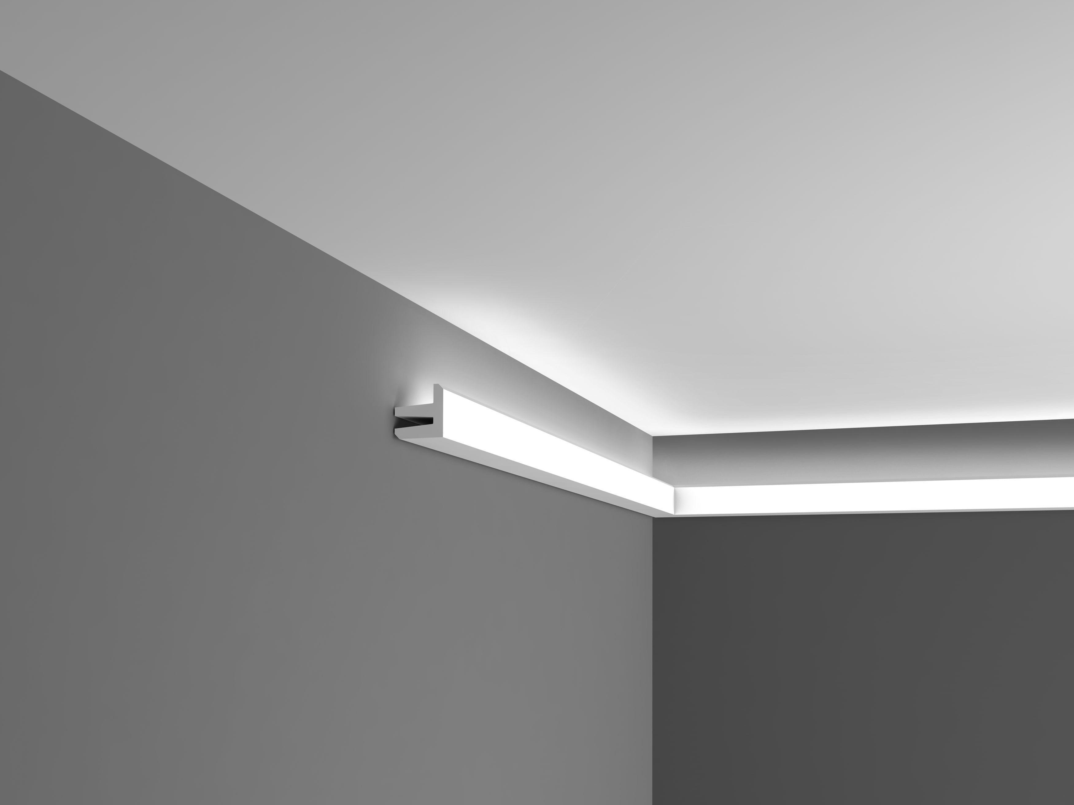 Corniche Polystyrène Pour Led c380 corniche plafond orac decor -luxxus - 5x5cm (h x p