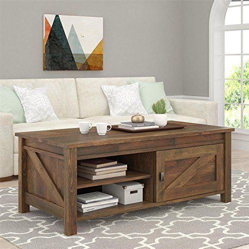 This Farmhouse Style Coffee Table Is Constructed Of Hard Wood And