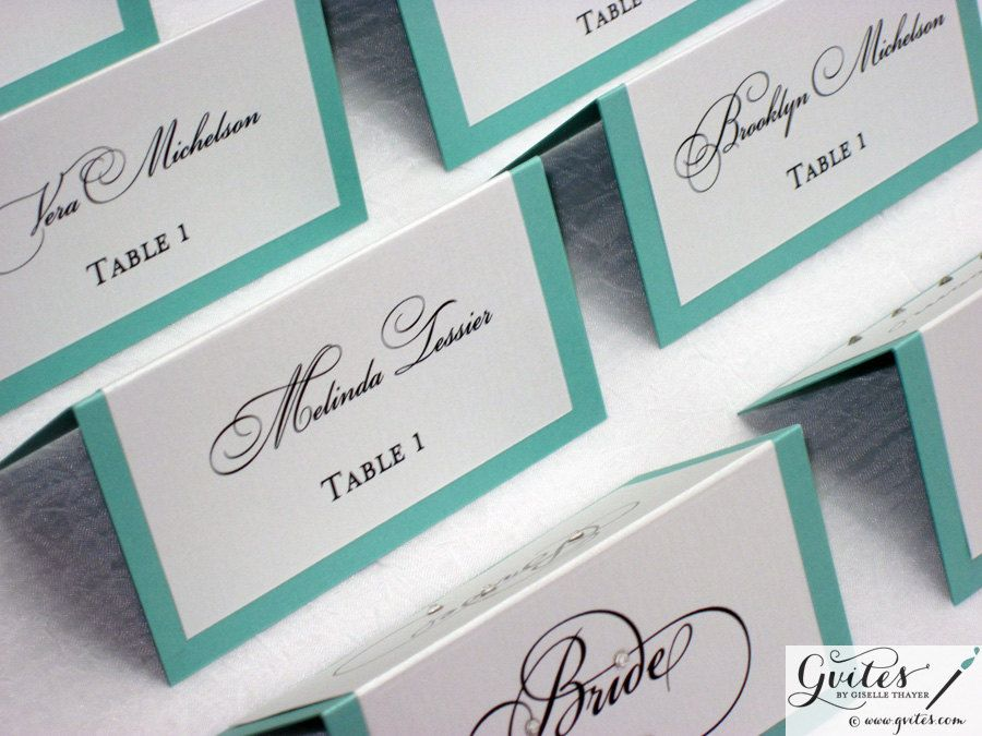 double sided place cards tent cards guest cards wedding by gvites