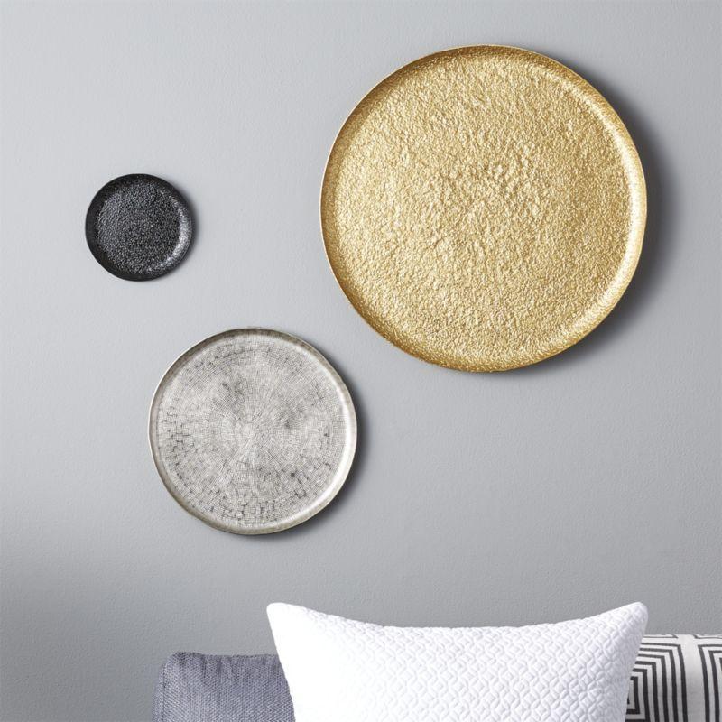 CB2 3-Piece Metal Wall Plate Set | Pinterest | Empty wall, Metal ...