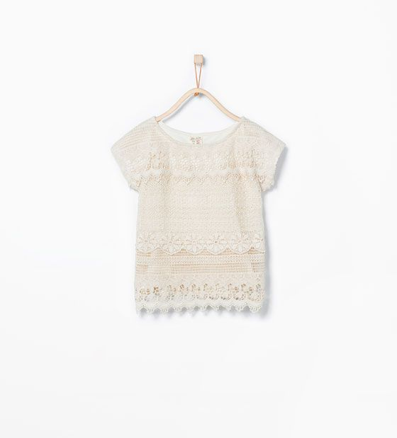 ZARA - KIDS - Crochet embroidered T-shirt