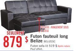 futon fauteuil long belize de brick 87900   futon fauteuil long belize de brick 87900     d  co maison      rh   pinterest