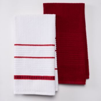 Food Network 2-pc. Textured Square Kitchen Towel Set