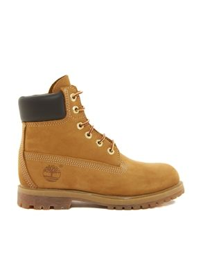 Timberland 6 inch premium lace up beige flat boots en 2019