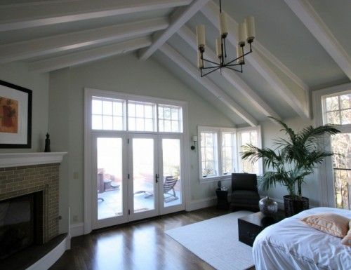 Exposed Beams Not Just For Barns Anymore Cathedral Ceiling Living Room High Ceiling Bedroom White Beams