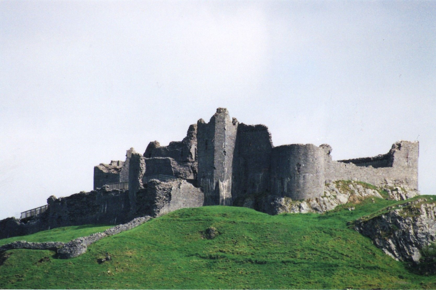CARREG CENNEN CASTLE - A REMOTE WELSH CASTLE WITH A BRUTAL HISTORY IN THE BEAUTIFUL WELSH HILLS . OFTEN OVERLOOKED IT IS IMPRESSIVE AND FAMOUS IN THE HISTORY OF WALES. IT HAS A SECRET CAVE ENTRANCE
