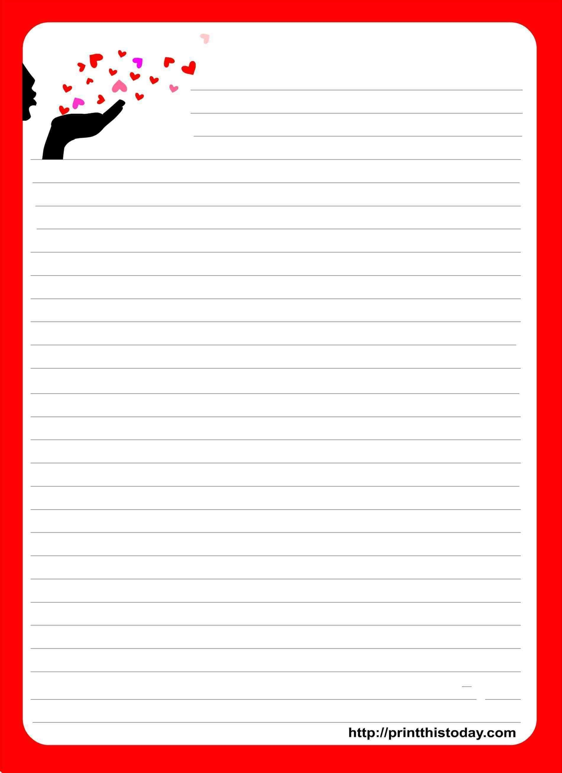 Love Letter Template Writing paper printable, Writing