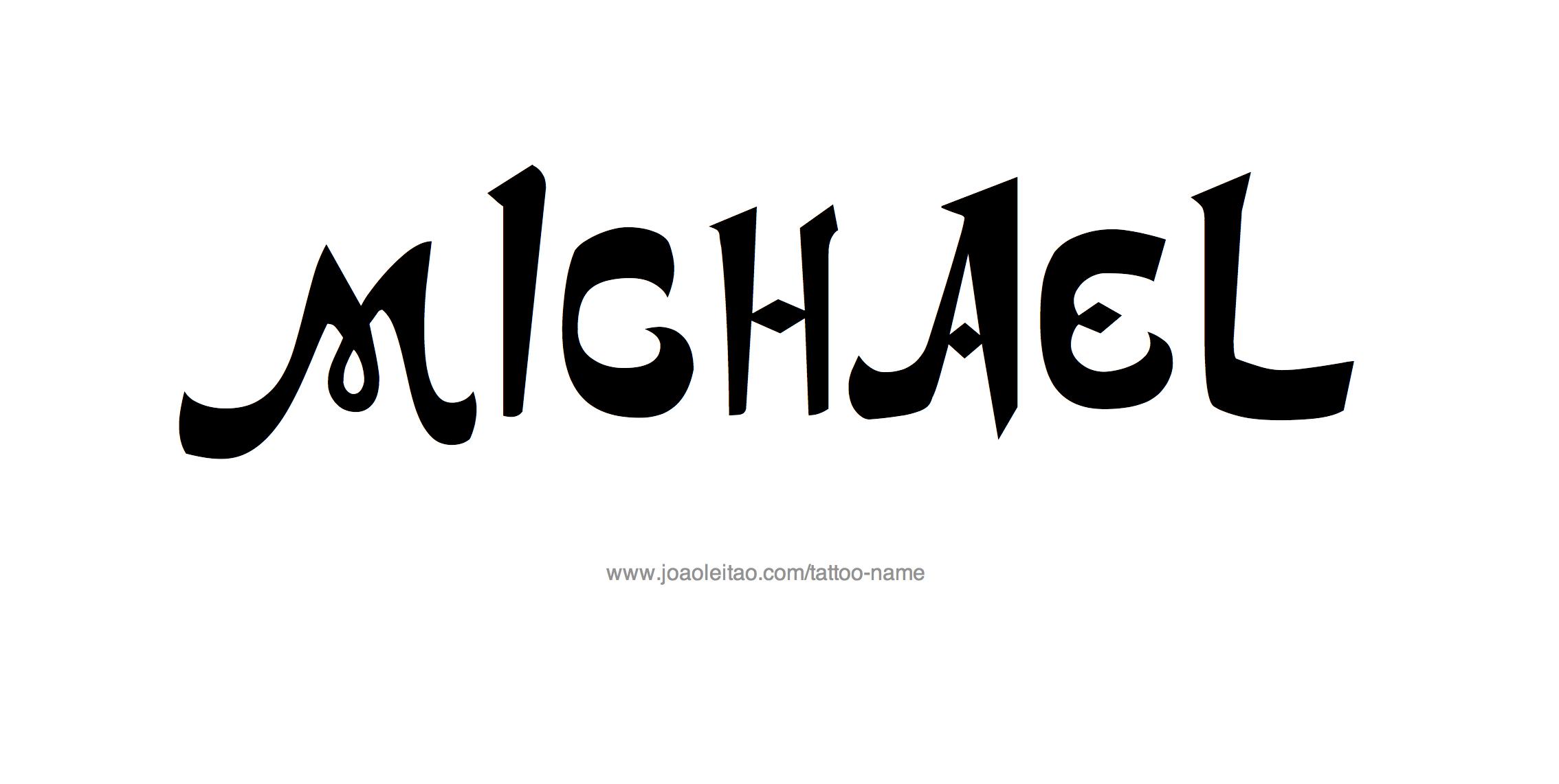 Michael Name Tattoo Designs Name Tattoo Designs