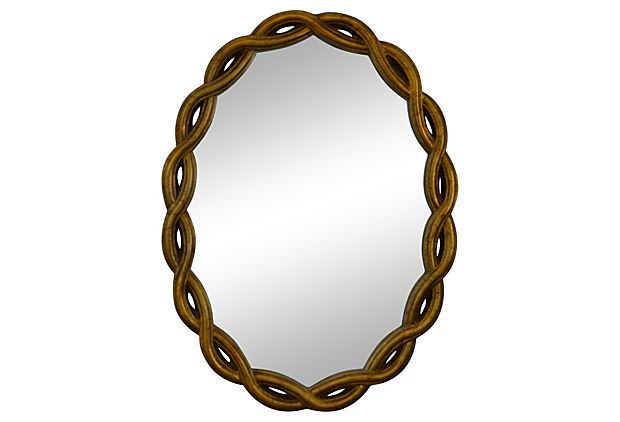 Giltwood Braided Mirror from Nomadic Vintage on sale today on OneKingsLane.com