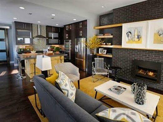 10 diseños de sala, comedor y cocina juntos
