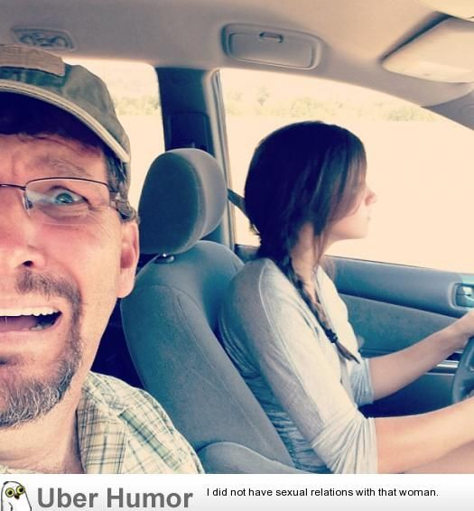 My sister started driving recently; my dad uploaded this to FB today
