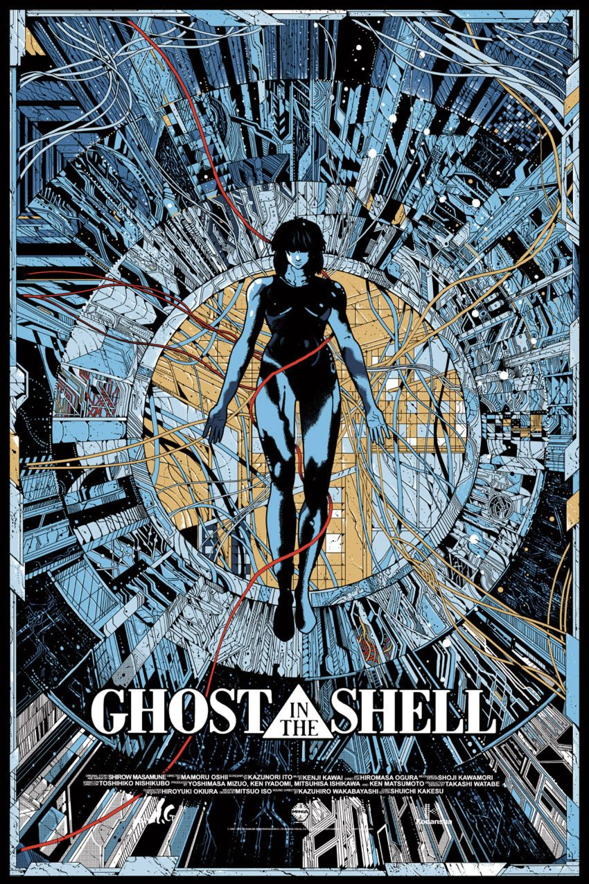 Kilian Eng Dw Design Mondo Posters Ghost In The Shell Anime Ghost