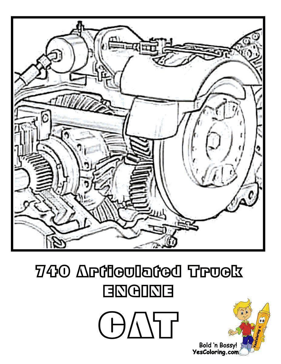 Print Out This Tough Boys Construction Coloring! CAT 740 ...