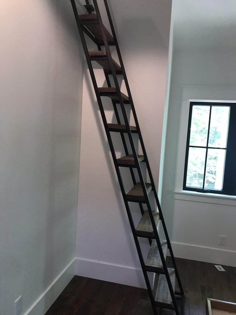 10ft Loft Ladder Librarian Etsy In 2020 Loft Ladder Tiny House Loft Tiny Loft