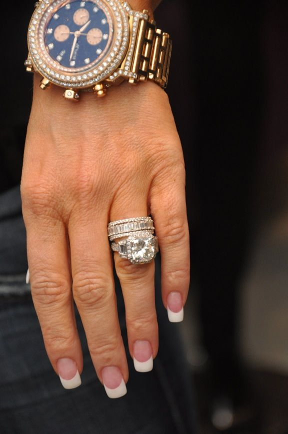 Kim Zolciak's (from RHOA) ring...the watch is fab too ...
