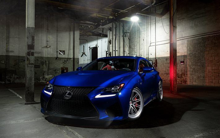 Download Wallpapers Lexus Rc F350 Sports Car Luxury Cars Blue