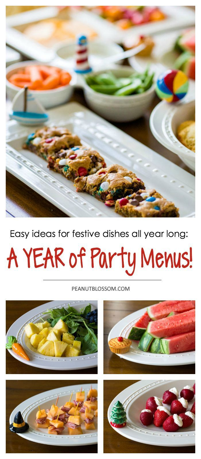5 minute party menus Easy entertaining all year long