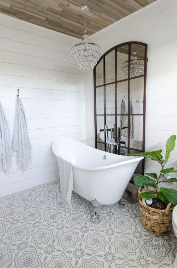 Modern farmhouse bathroom master bathroom ideas urban for Urban bathroom ideas