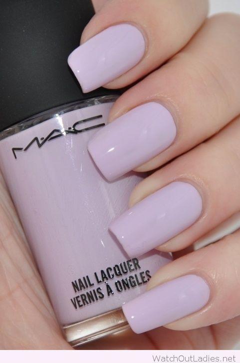 light purple nail polish mac