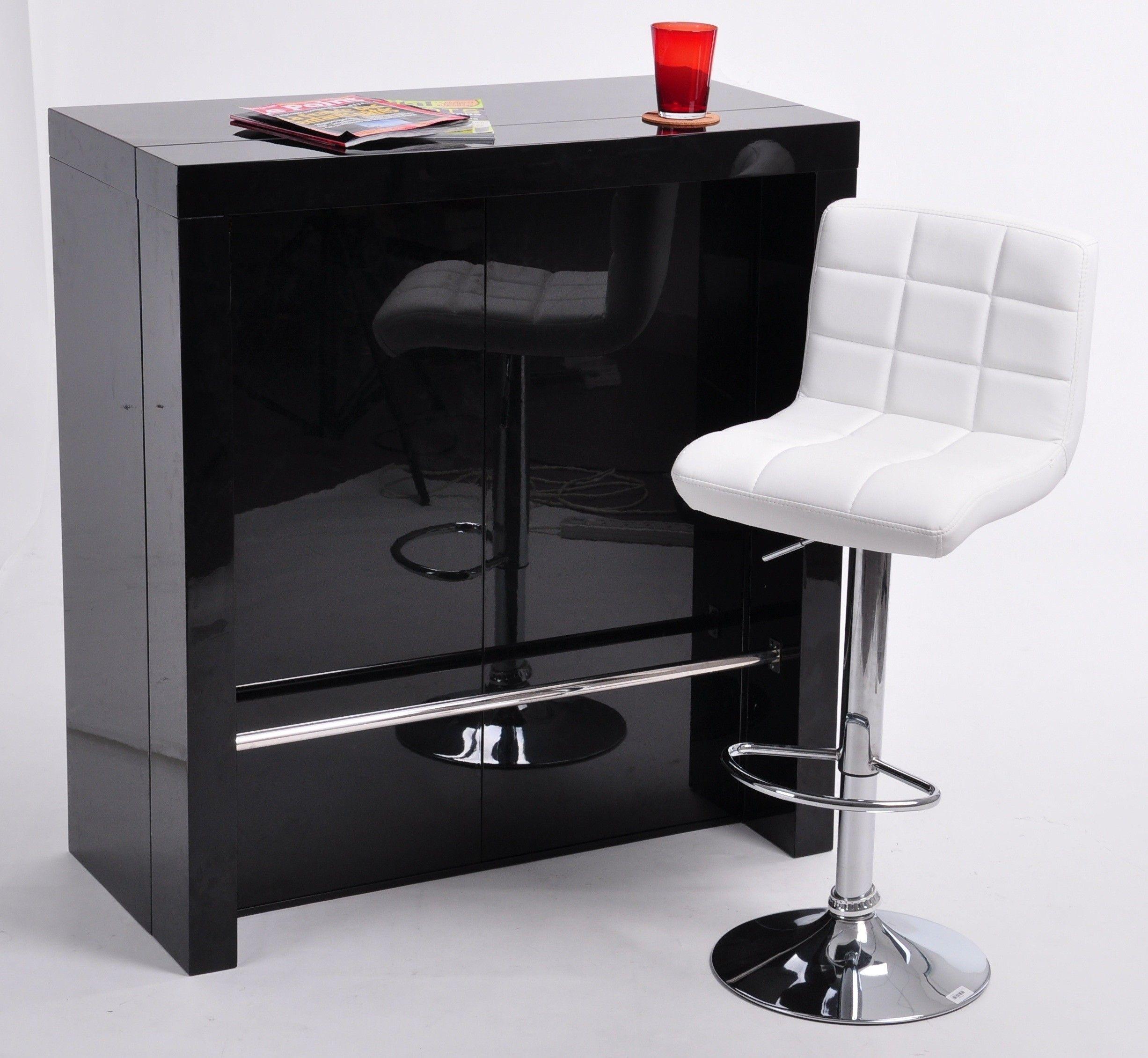 Aussi Bien Console Extensible Et Table De Bar Haute Ce Modèle - Console extensible blanc laque pour idees de deco de cuisine