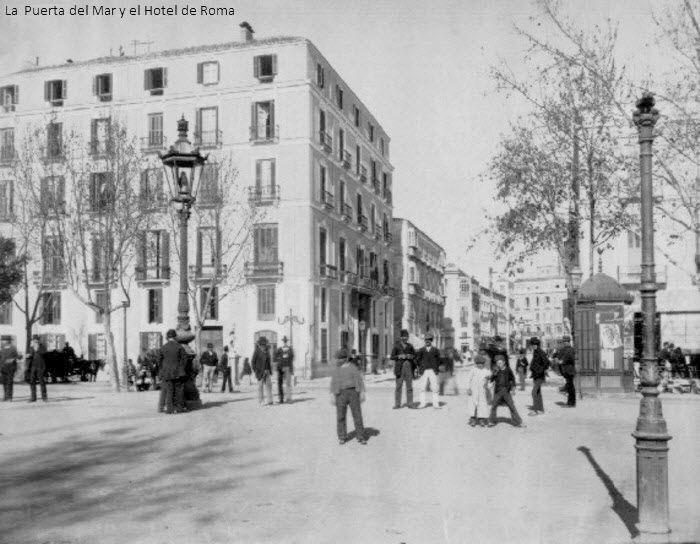 Alameda, hotel de Roma, Puerta del Mar. El establecimiento hotelero de mayor prestigio de la ciudad va a seguir siendo el antiguo Hotel Alameda, ahora denominado Gran Hotel de Roma desde que fue adquirido por la empresa Yotti y Compañía, dueña de tres hoteles del mismo nombre en Madrid, Granada y Málaga. http://www.unav.es/gep/HotelesMalagaJabega.pdf.