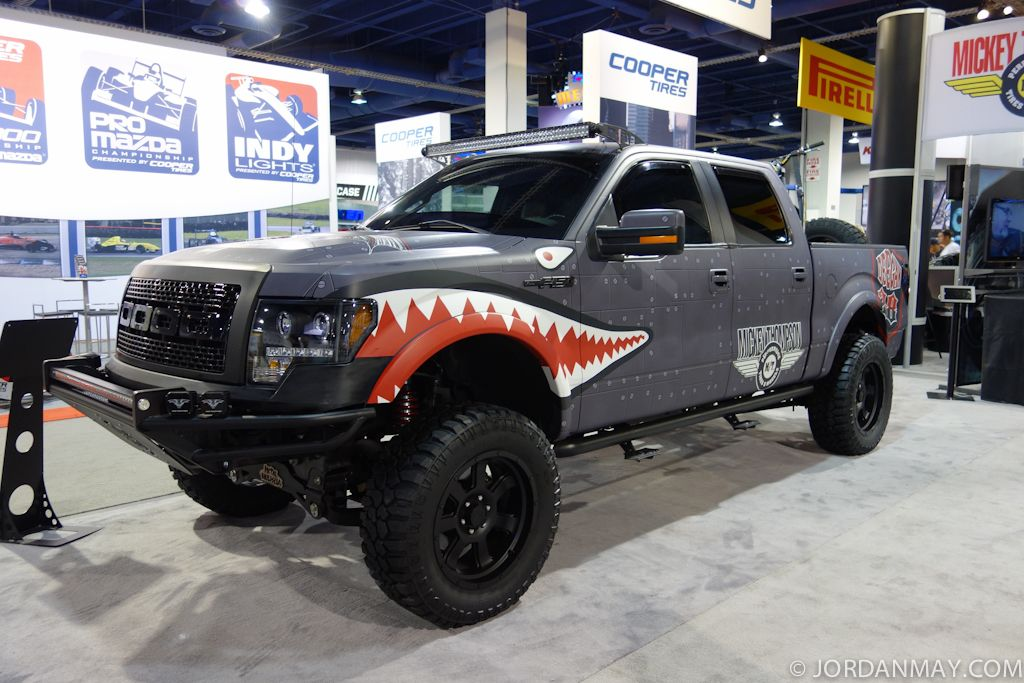 fresh looks from the sema show built ford tough ford trucks custom trucks pinterest