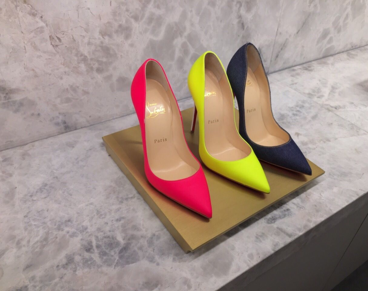 Choose your Louboutin. On sale exclusively for Pinterest #louboutinworld #christianlouboutin #shoes #pumps#neon