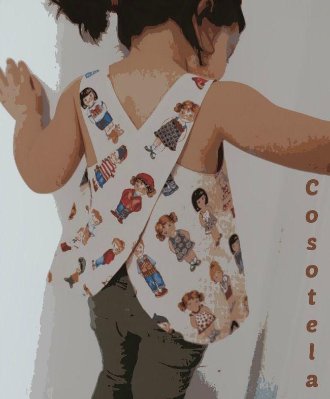 c8a6ad141 Blusa espalda cruzada o Pinafore | nin@s | Vestidos para bebés ...