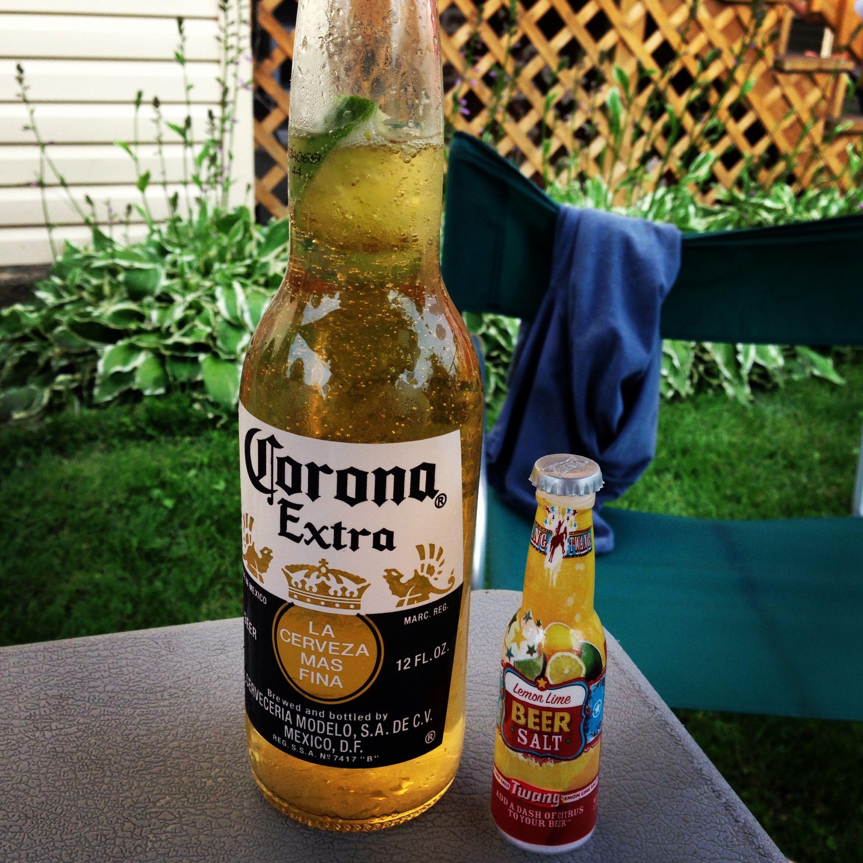 Refreshing Corona With Lime And Beer Salt Corona Beer Bottle Beer Salt Beer