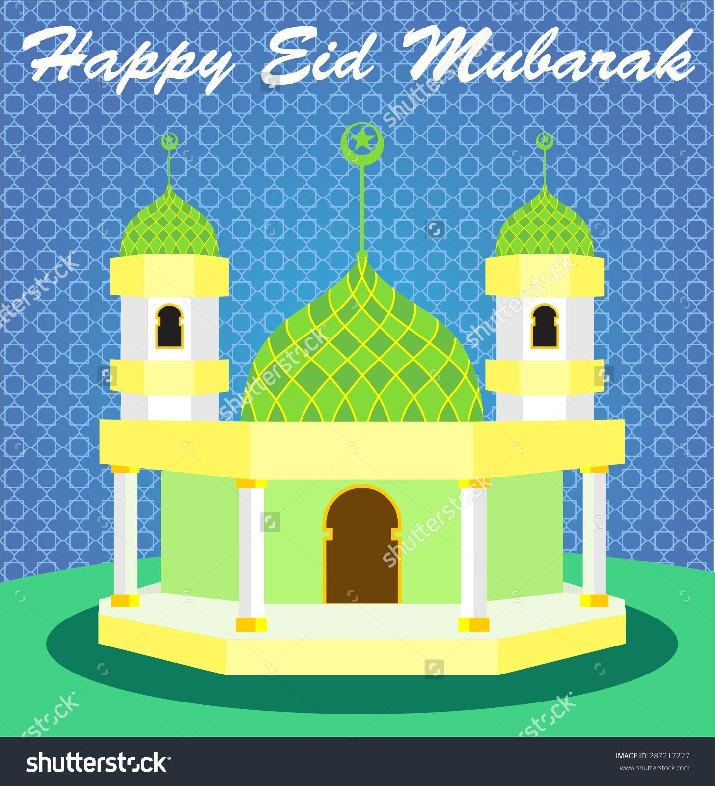 Cartoon dog stock photos images amp pictures shutterstock - Stock Vector Happy Eid Mubarak And Cartoon Mosque
