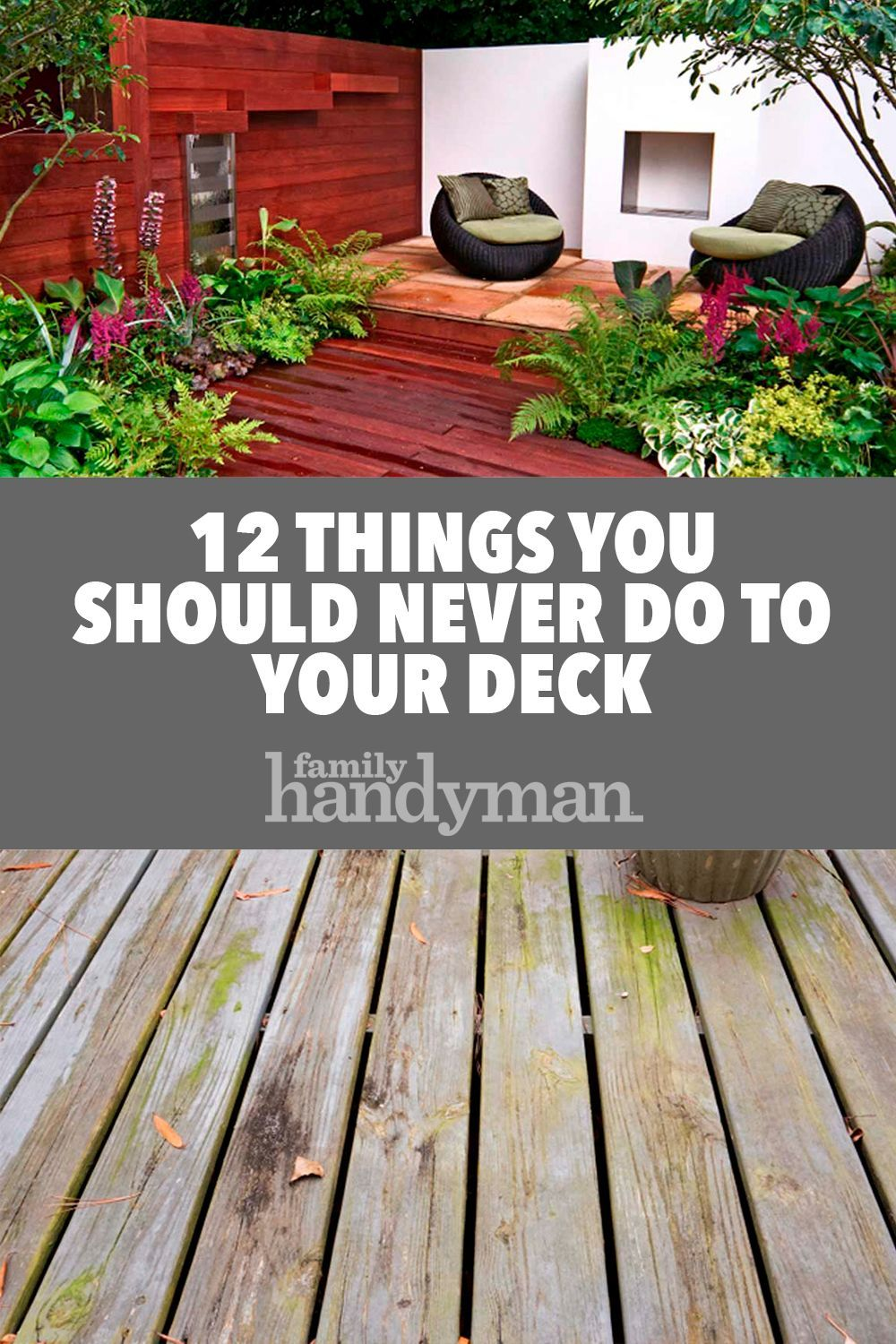 12 Things You Should Never Do To Your Deck Woodworking Plans Tv Stand Woodworking Plans House Renovation Projects
