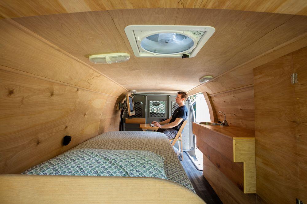Houston Man Converts Cargo Van Into Beautiful Tiny Home